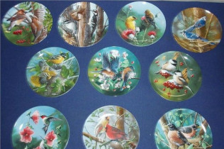 KNOWLES BIRDS OF YOUR GARDEN COLLECTOR PLATES-$200