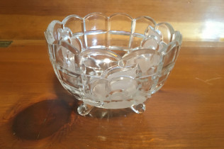 CRYSTAL CANDY DISH-$8