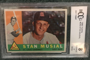 STAN MUSIAL 1960 TOPPS CARD BCCG 8-$120