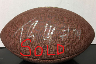 TRISTAN WIRFS AUTOGRAPHED NFL FOOTBALL -$95