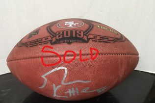 GEORGE KITTLE AUTOGRAPH OFFICIAL NFC CHAMPIONSHIP FOOTBALL-$400